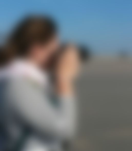 Lucía Pita taking a picture